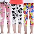 Venta al por menor 2-7años 8 patrones de gasa leggings niñas Capri pantalones niños pantalones ropa de niños de los niños del verano fresco