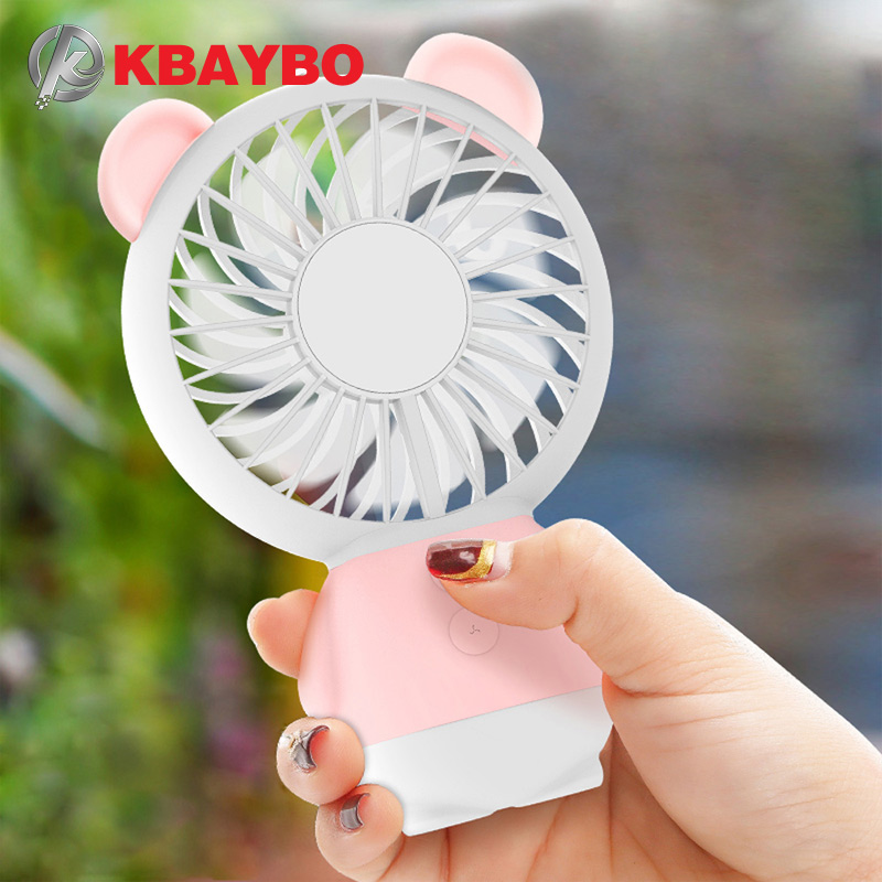 Mini USB Fan cool air conditioner rechargeable fan protable desk Fan USB cooler Fan for laptop desktop Computer home office handheld cartoon mini fan usb portable fan for home outdoor desk rechargeable air conditioner with 1200ma rechargeable battery