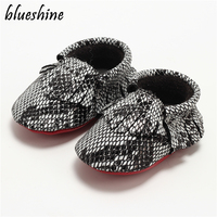 2016 Autumn New Arrivals Boy Girl Infant Soft Genuine Leather First Walkers Moccasins Serpentine Pattern Baby