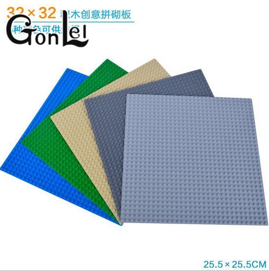 GonLeI New Colors Small Bricks Baseplates 32*32 Dots Base plate Size 10*10 DIY Building Blocks Toys Compatible with Lepin new big size 40 40cm blocks diy baseplate 50 50 dots diy small bricks building blocks base plate green grey blue