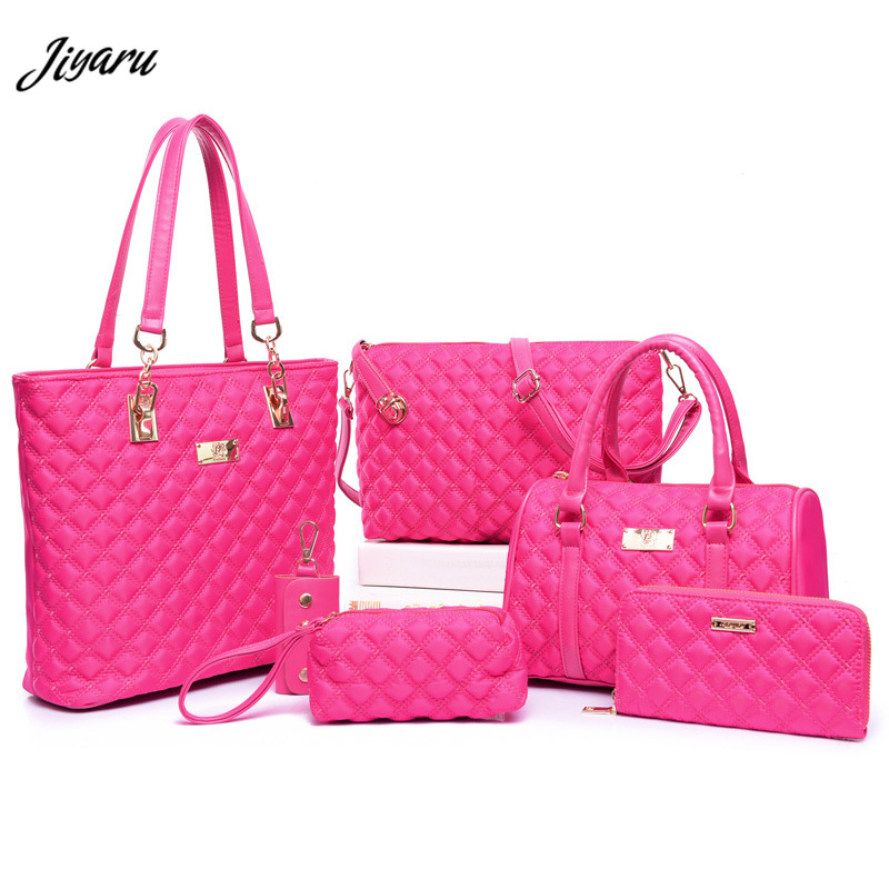 6pcs Women Bags Ladies Luxury Handbags Set Desiger for Women Shoulder Messenger Bag Purse Cross Body Ladies Female Bag Nylon style me up style me up набор для создания украшений браслеты мечты