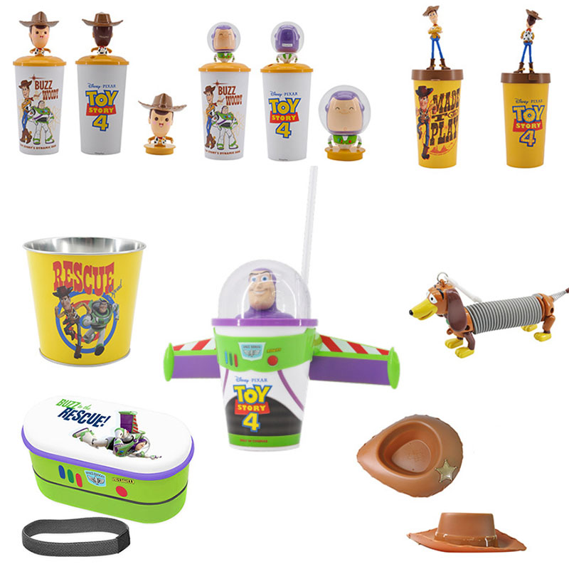 Disney Cup-Toys Toy-Story Lightyear-Figure-Model Christmas-Gift Buzz Kids 4-Woody Cartoon