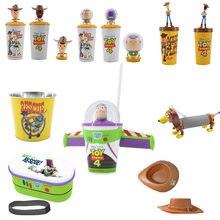 Brinquedo original história 4 buzz lightyear desenhos animados crianças copo brinquedos disney brinquedo história 4 woody buzz lightyear figura modelo presente de natal