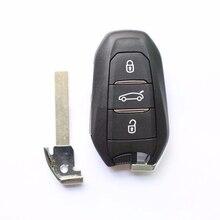 OEM Ключа Автомобиля Для Peugeot 208 308 508 3008 5008 И Т. Д. Смарт Автозапуск 3 Кнопки Дистанционного Ключа С Electornic ID 46 Чип, 433 МГЦ