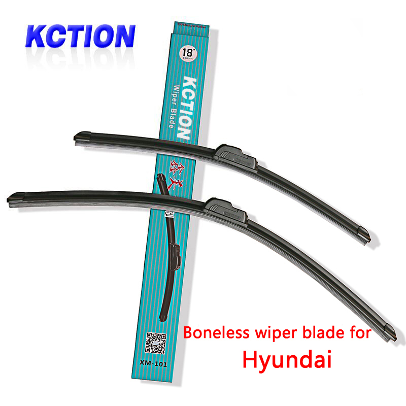 все цены на Car Windshield Wiper Blade For Hyundai Solaris Elantra Sonata 8 I10 I20 I30 I40 IX20 IX25 IX35 Tucson Accent,Natural rubber онлайн