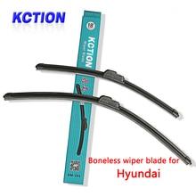 Car Windshield Wiper Blade For Hyundai Solaris Elantra Sonata 8 I10 I20 I30 I40 IX20 IX25 IX35 Tucson Accent,Natural rubber