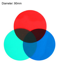 Trichromatic Filter Three Primary Colors Transparent Sheet 90mm RGB Physical Optics Experiment Teaching Equipment