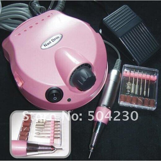US-202 Professional electric nail drill file machine manicure pedicure bits kit with foot pedal Nail polisher pro powerful 25000rpm electric nail drill pedicure manicure machine set with pedal