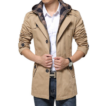 2019 spring and autumn leisure fashion removable hooded windbreaker jacket