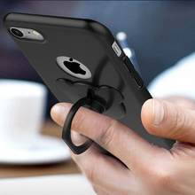 Cute Matte Metal Bear Finger Rings For iPhone 360 Degree Samsung Galaxy Smartphone All Scrub Phone Stand Holder Caqa