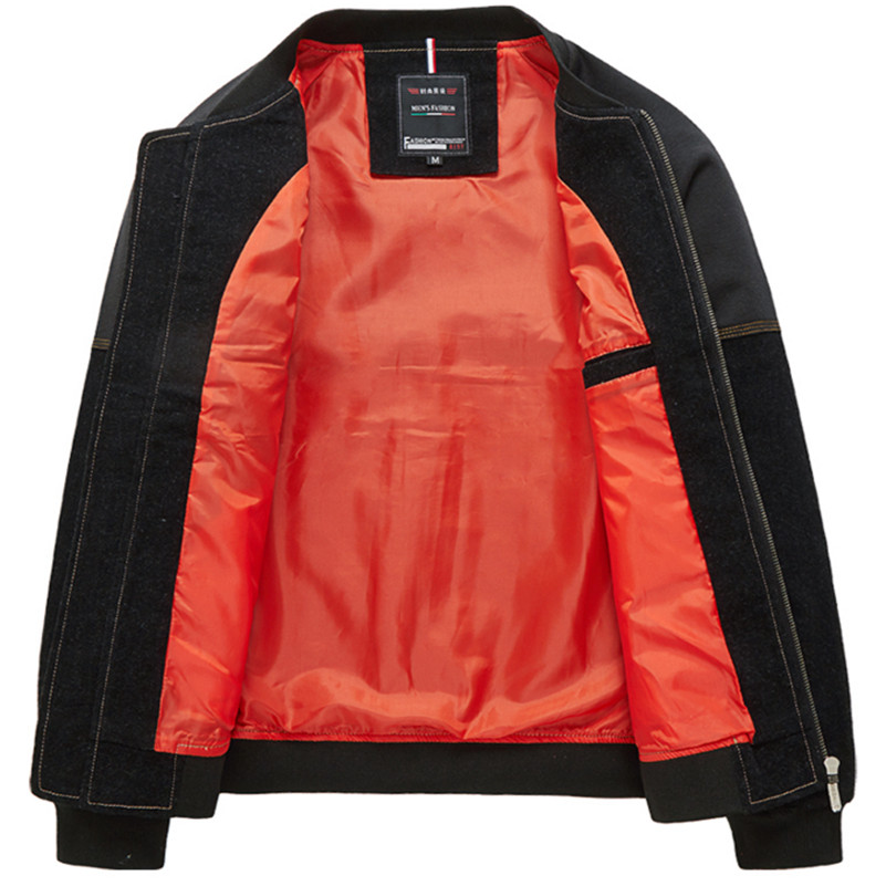 Men Denim Jacket Coats Korean Style Fashion Jacket Brand Design Plus Size M-5XL Slim Fit Cotton Windbreak F2245