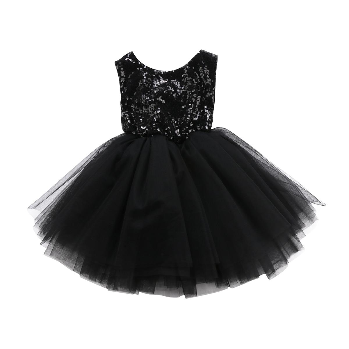 Backless Prinzessin Kinder Baby Blume Mädchen Kleidung Party Pailletten Kleid Ärmel Tutu Mini Tiered Mini Kleider Mädchen