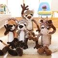 40-80 см Большой размер Куклы Прекрасные большие глаза жираф лев плюшевые игрушки тигр леопард игрушки куклы Рождественский подарок дети подарок