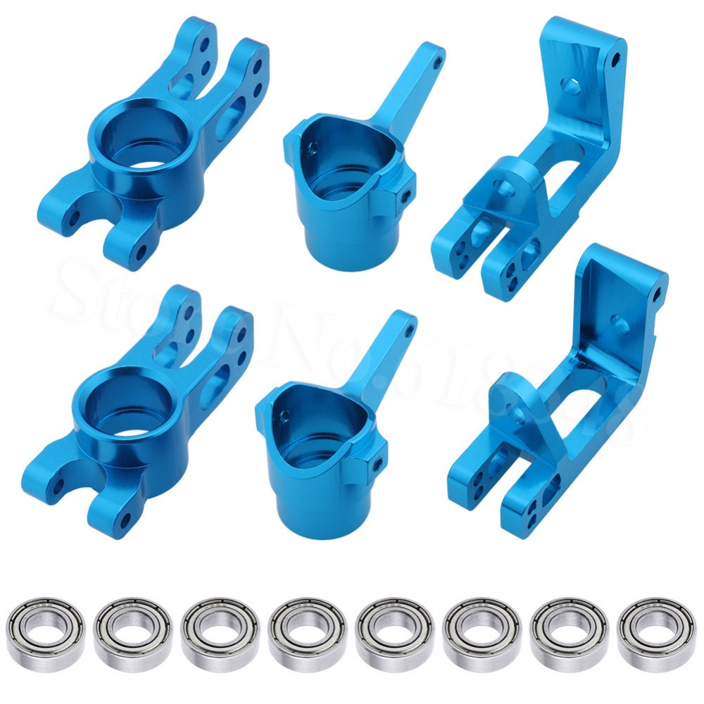 HSP 1/8 Upgrade Parts 860008 860009 860010 Aluminum R/F Hub Carrier Steering Carrier Bearings 16*8*5 85763 For 1/8 RC Hobby Car 2pcs hsp 106017 106617 aluminum steering linkage 06016 front rear servo link 1 10th upgrade parts for r c model car buggy