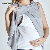 Green Home Two Layers Maternity Nursing Top For Pregnant Women New Arrival Fashion Styles Pregnancy Clothes