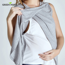 Green Home Two Layers Maternity Nursing Tops For Pregnant Women Breastfeeding Pregnancy T-Shirt Funny Fashion Maternity Clothing