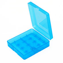 (Gift) LiitoKala 18650 hard plastic lithium battery storage box transparent blue battery box collection support(China)