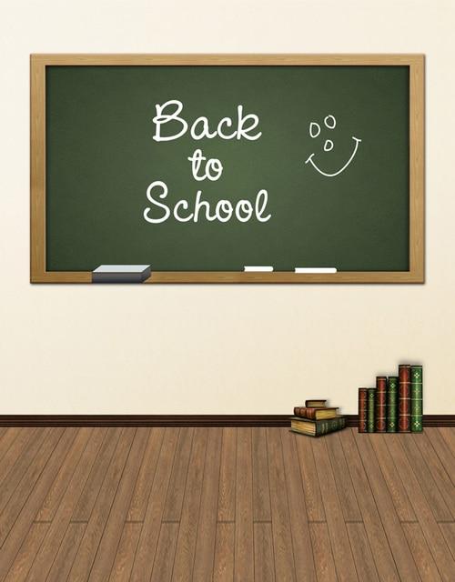 Custom vinyl cloth back to school blackboard classroom