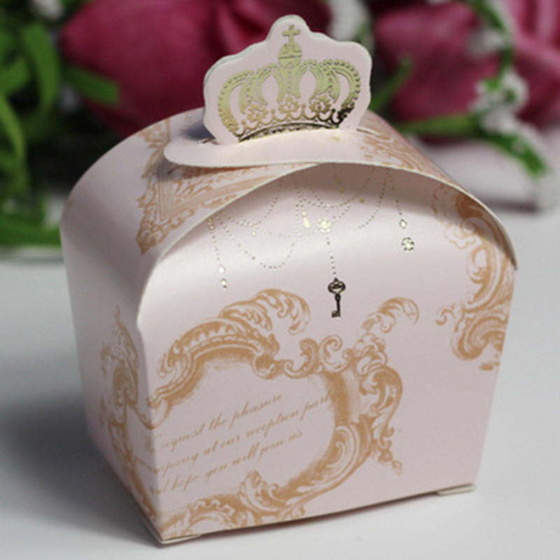 200pcs european wedding candy box creative wedding ring