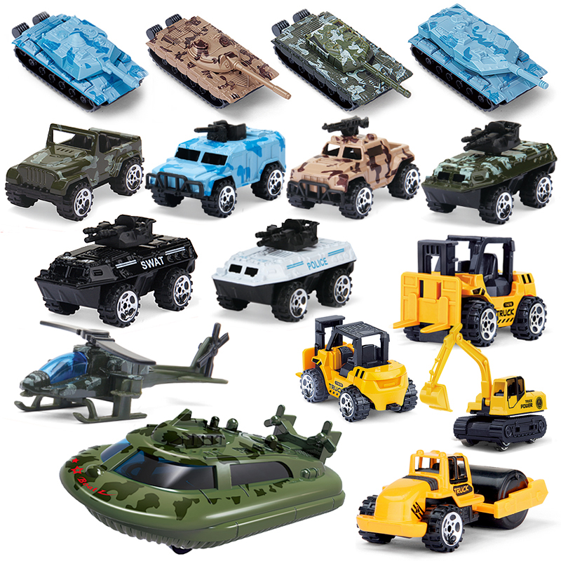 1PCS Mini Metal Alloy Car Model Diecast Pocket Tank Model Toys Cars Helicopter Gift For Kid Boys Collection Vehicle For Children
