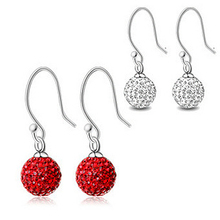 New Fashion Sexy red earrings 925 pure silver earrings sparkling sexy 230