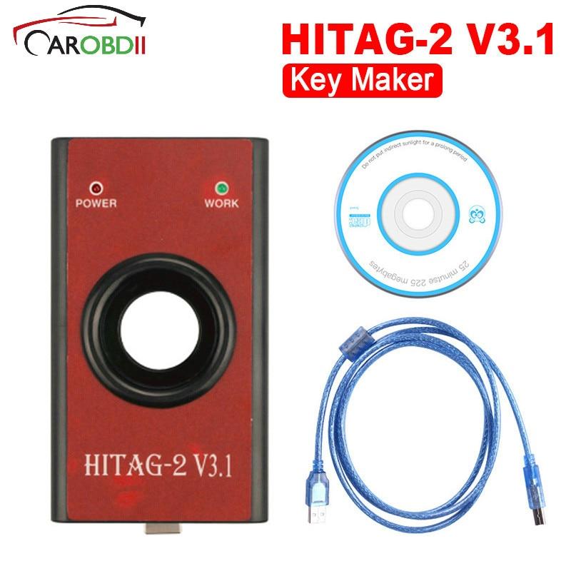 Auto Chiavi di Programmazione HiTag 2 V3.1 Programmatore CHIAVE Strumento immo, telecomando, leggere PIN, VIN 2018 Car Styling Auto Chiave Makers Hitag2 V3.1