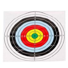 Archery Paper Face Target Archery Shooting Target Partice Paper 40x40cm New