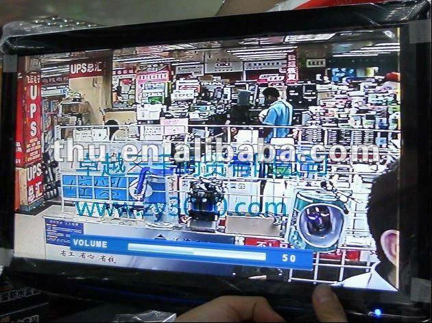 Garantie 1 an nouveau stock 17 pouces 1 * VGA 3 * BNC 1 * HDMI DV12V entrée moniteur de vidéosurveillance pour caméra CCD/COM COM