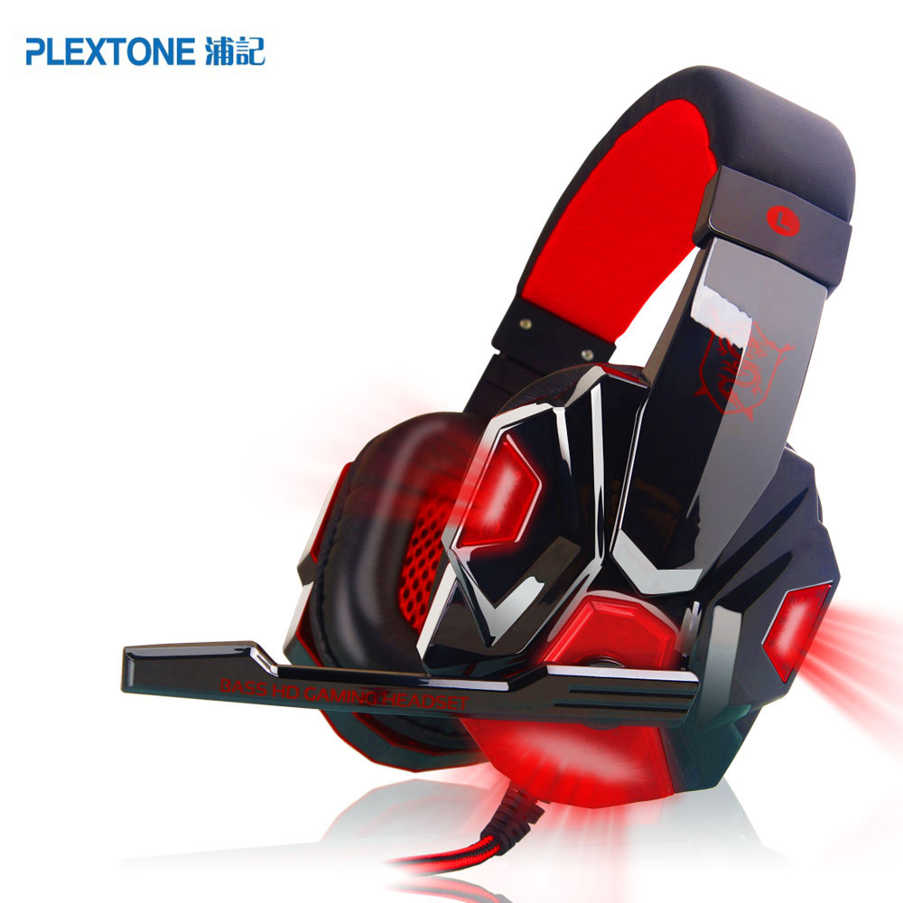 PLEXTONE 2017 Computer Stereo Gaming Headphones Noise Cancelling Deep Bass Game Earphone Headset with Mic LED