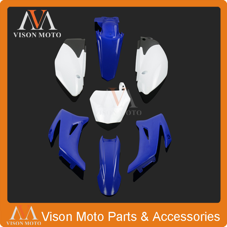 Complete Body Plastics Kits For Yamaha TTR110 and Chinese 125CC Dirt Pit Bike MX Motocross Enduro Supermoto SM Off Road Racing retro tinplate metal motocross models collection classic handmade arts and crafts dirt bike model