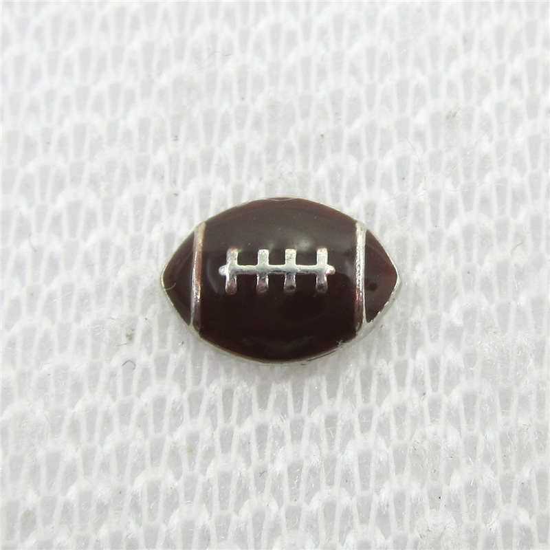 Hot Selling 30pcs/lot Football Floating Charms Living Glass Memory Floating Lockets Pendants Charms DIY Jewelry Sport Charm