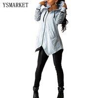 Yeni kadın hoodies sonbahar Kapüşonlu elbise Graffiti mektubu baskılı büyük boy Tişörtü fermuar kadın rahat giyim E8956
