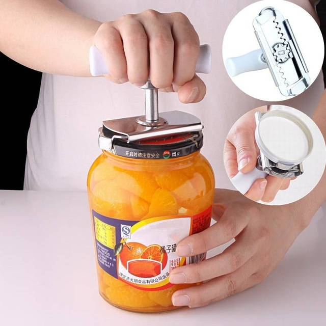 adjustable stainless steel jar opener twist off can lid remover tin
