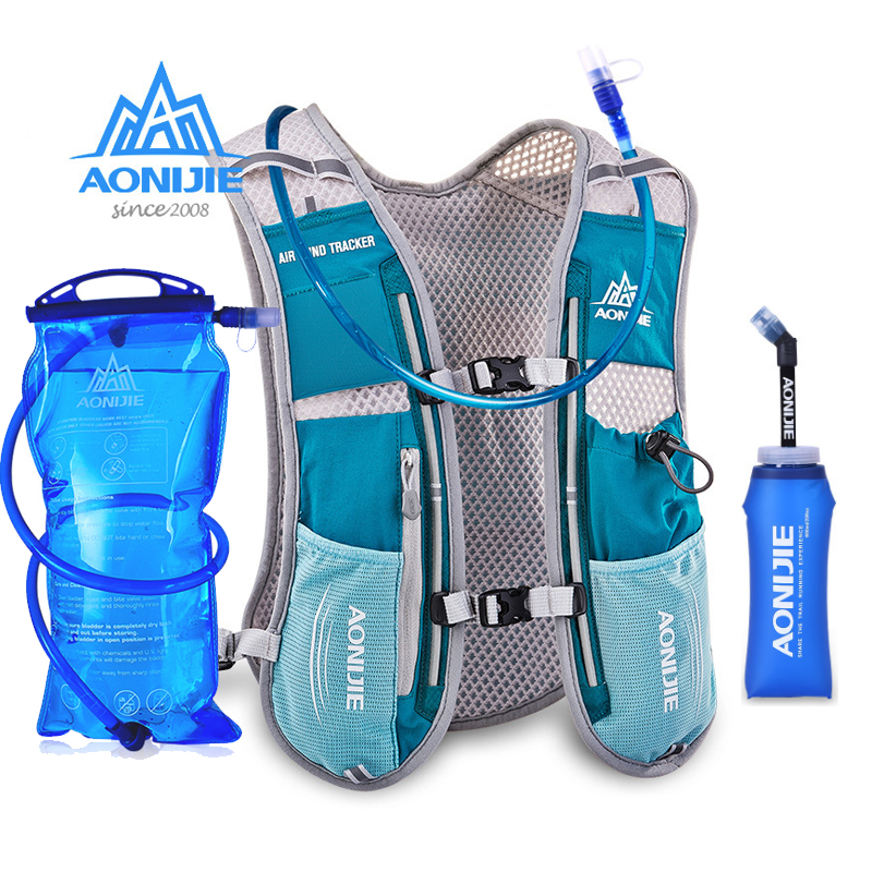 AONIJIE Men Women Running Backpack Outdoor Sports Trail Racing Hiking Marathon Fitness Hydration Vest Pack 1.5L Bag 600ml Kettle цена