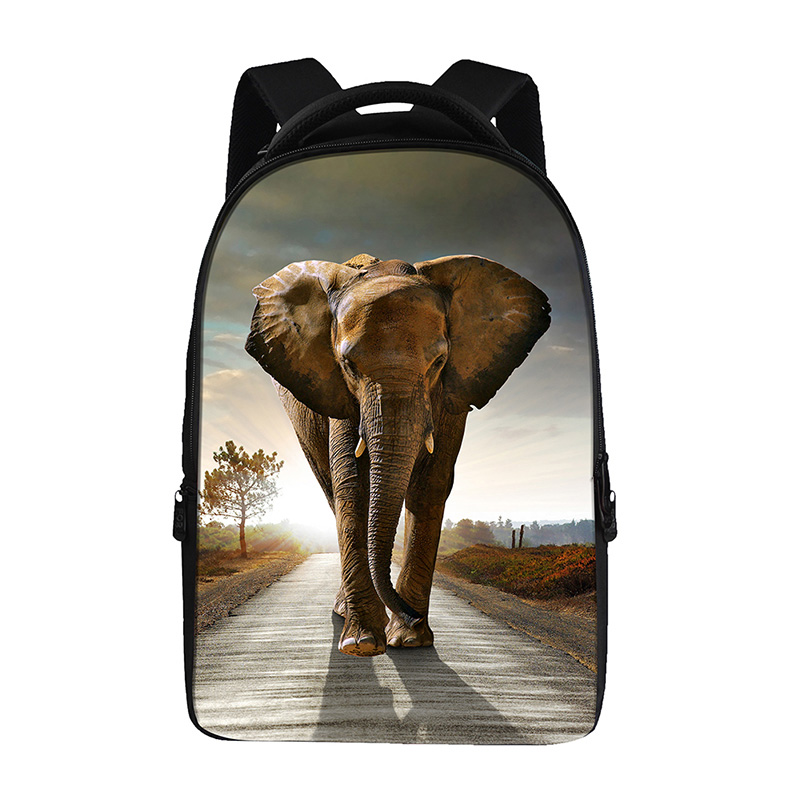 elephant prints Backpacks For Teens Computer Bag Fashion School Bags For Primary Schoolbags Fashion Backpack Best Book Bag