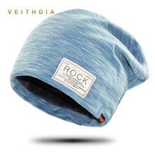 VEITHDIA Autumn Hip hop cap Winter beanies men hats Rock logo Casual Cap Turban hat bonnet plus velvet caps for men beanie