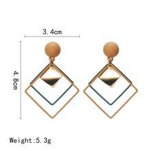 Korean Wild Sequins Geometric Earring