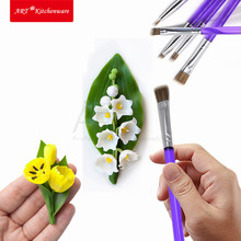 Makeup Brushes Tools Professional Makeup Brush Set Cake Decorating Fondant Icing Cakes Decoration Fondant Tools Set(China)