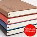 RuiZe кожаный блокнот в сетку A5  плотная бумага  креативный ежедневник  ежедневник  блокнот в твердом переплете  канцелярские принадлежности  ...