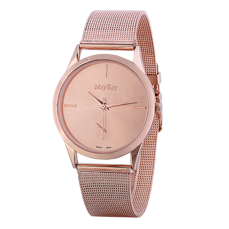 2017 New Fashion Brand McyKcy Casual Quartz Watch Women Ultra Thin Metal Mesh Stainless Steel Dress