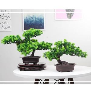Image 2 - סימולציה אורחי ברכה האורן בונסאי искусственная ельTree מלאכותי צמח הסדר מקורה סלון שולחן דקור