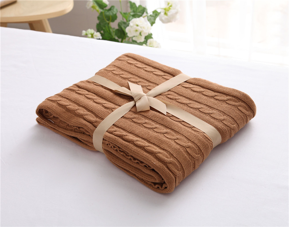 2017 New Fashion Solid Cotton Thread Blanket Throw Adult Size Blankets for Beds Spring/Autumn Sofa TV Blanket Cover cobertor
