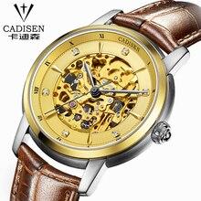 Hot 2016 Winner Luxury Brand Sports Men's Automatic Skeleton Mechanical Military Wrist watch Men Waterproof leather watch