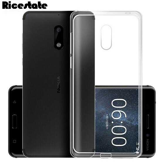 Clear TPU Soft phone Case For Nokia X6 X5 X7 Nokia 6 3 5 8 9 Nokia 2.1 3.1 5.1 Transparent  and Black frosted case