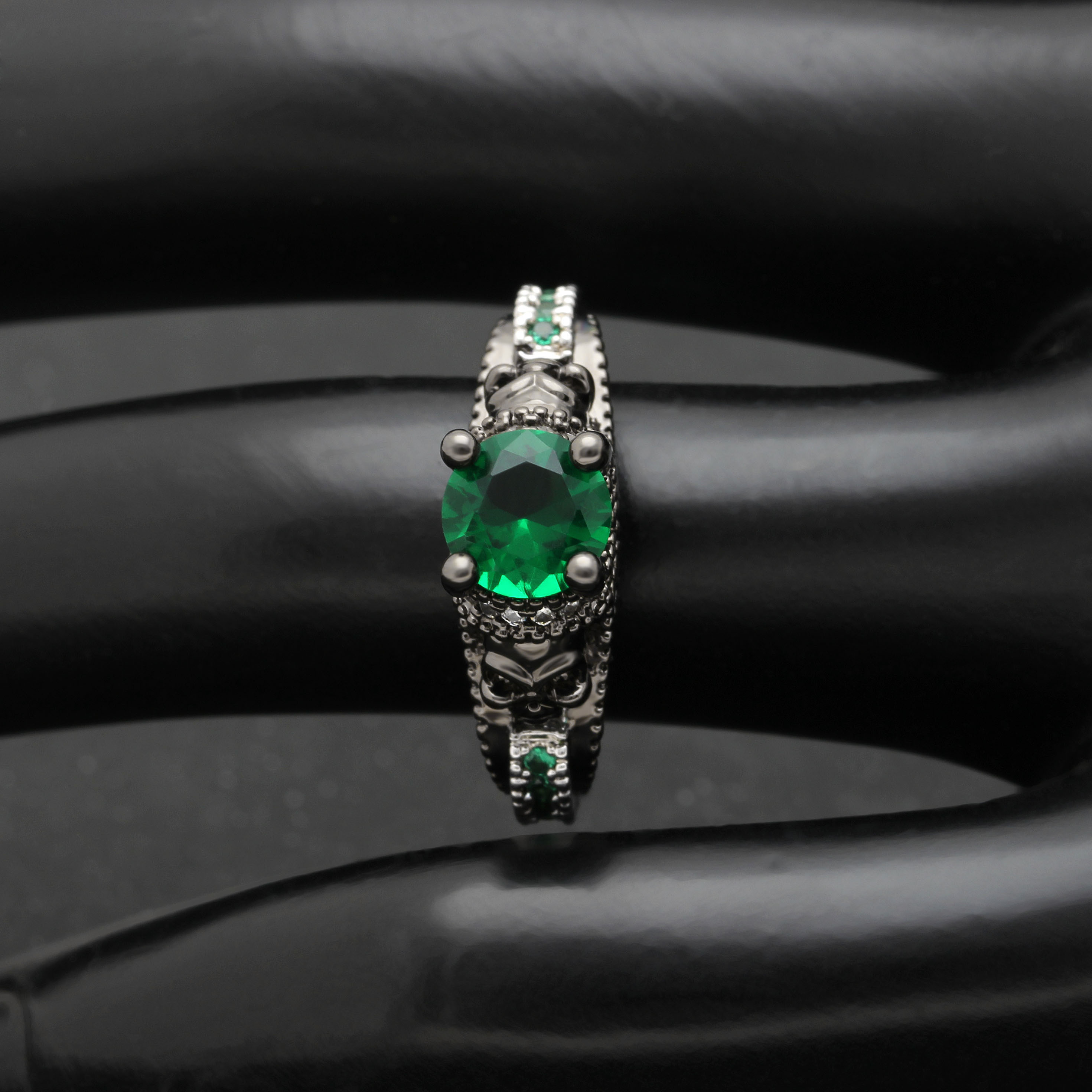 Party Ring Birthstone Skull Ring 6