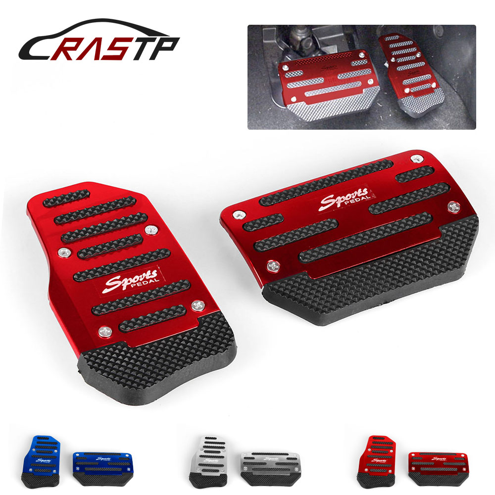 Anzio Universal RED Car Automatic Transmission Racing Sport Gas Brake Pedal Cover Pad