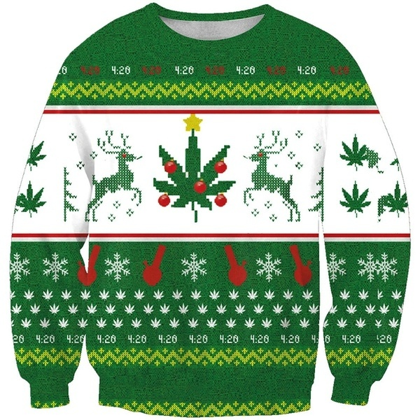 Yaolor Men Crewneck Knit Thicken Pullover Christmas Print Long Sleeve Sweater