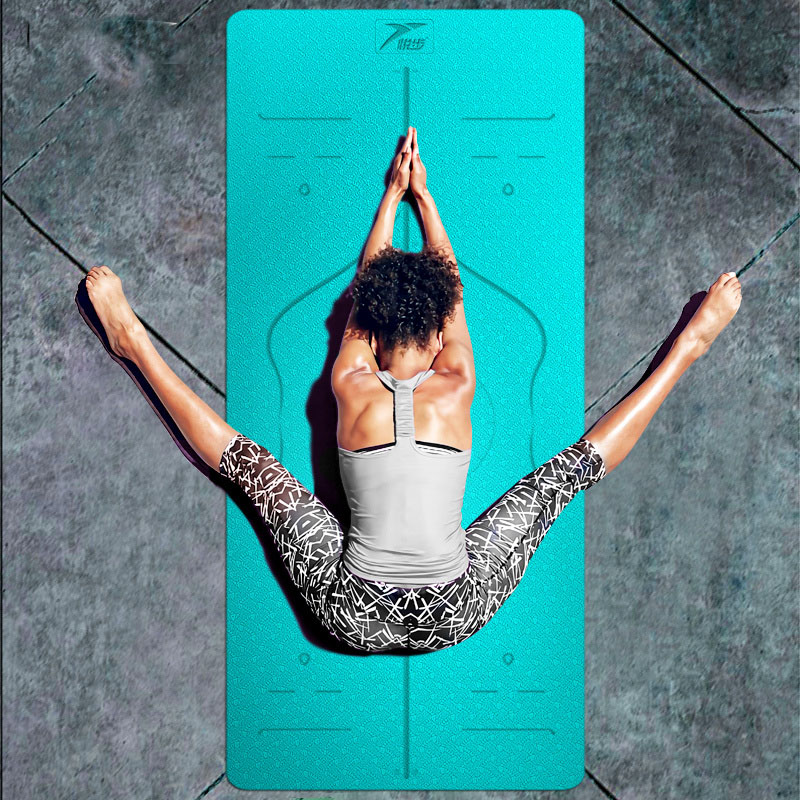 TPE YOGA MAT approved SGS  gym mat fitness yoga mat 183*80cm*6mm nicola jane hobbs yoga gym