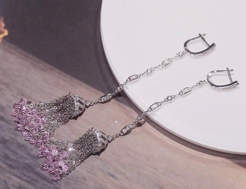 Designer mode 925 bijoux en argent Sterling 3A cubique zircone fête boucle d'oreille-in Pendentifs from Bijoux et Accessoires    2