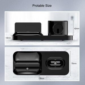 Image 5 - RAXFLY 3 in 1 manyetik telefon şarj cihazı iPhone Dock için 3 in 1 kablosuz şarj cihazı Airpods şarj standı tutucu apple Watch için